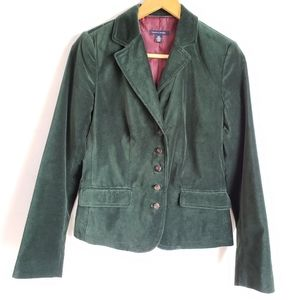 Tommy Hilfiger Green Verran Boston Velvet Blazer S